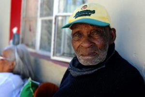 SOUTH AFRICA – Cape Town – 08 May 2020 – Mr Fredie Blom from Delft the oldest man in South Africa and possibly the world celebrates his 116th birthday  Picture:Brendan Magaar/African News Agency (ANA)