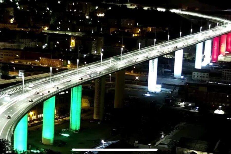 Genova, a due anni dalla strage aperto al traffico il nuovo ponte San Giorgio