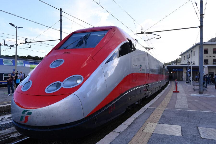 foto: Alfredo Falcone / LaPresse Frosinone, 14 06 2020 Stazione di Cassino Ferrovie dello Stato Inaugurazione Alta Velocitˆ Frosinone Cassino nella foto: Un momento della cerimonia