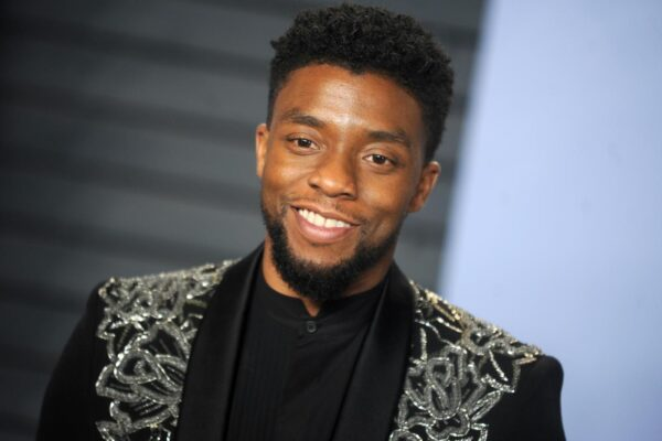 Chadwick Boseman attending the 2018 Vanity Fair Oscar Party hosted by Radhika Jones at Wallis Annenberg Center for the Performing Arts on March 4, 2018 in Beverly Hills, Los Angeles, CA, USA. Photo by Dennis van Tine/ABACAPRESS.COM