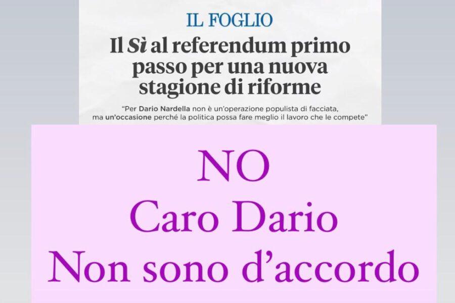 No, caro Dario Nardella, non sono d'accordo