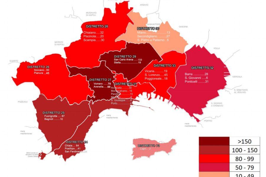 Quartieri Di Napoli Cartina.Coronavirus A Napoli Ad Agosto Eta Media Di 27 Anni Chiaia E Posillipo I Quartieri Piu Colpiti Il Riformista