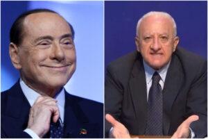 """Berlusconi lancia la rincorsa: """"De Luca come l'Urss, è personaggio divertente ma governare è altra cosa"""""""