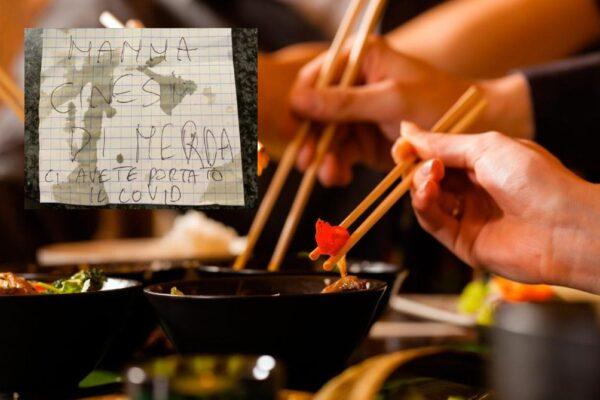 """""""Cinesi di m… ci avete portato il Covid"""", mangiano al ristorante e scappano senza pagare"""