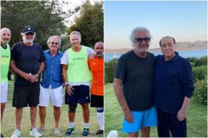 Briatore, dal calcetto con i vip alla visita a Berlusconi: le 'tappe' prima del ricovero per Covid
