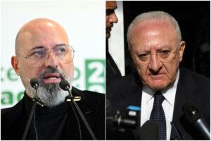 De Luca vuole chiudere ma Bonaccini dice 'no' al blocco tra Regioni: riparte il tira e molla tra governatori
