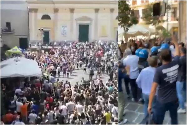 Scontri e contestazione per Salvini nel tour in Campania: alta tensione a Cava de' Tirreni