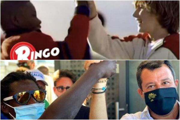"""Bufera su Salvini, slogan e foto dei Ringo per la campagna elettorale. Barilla: """"Mai autorizzato"""""""