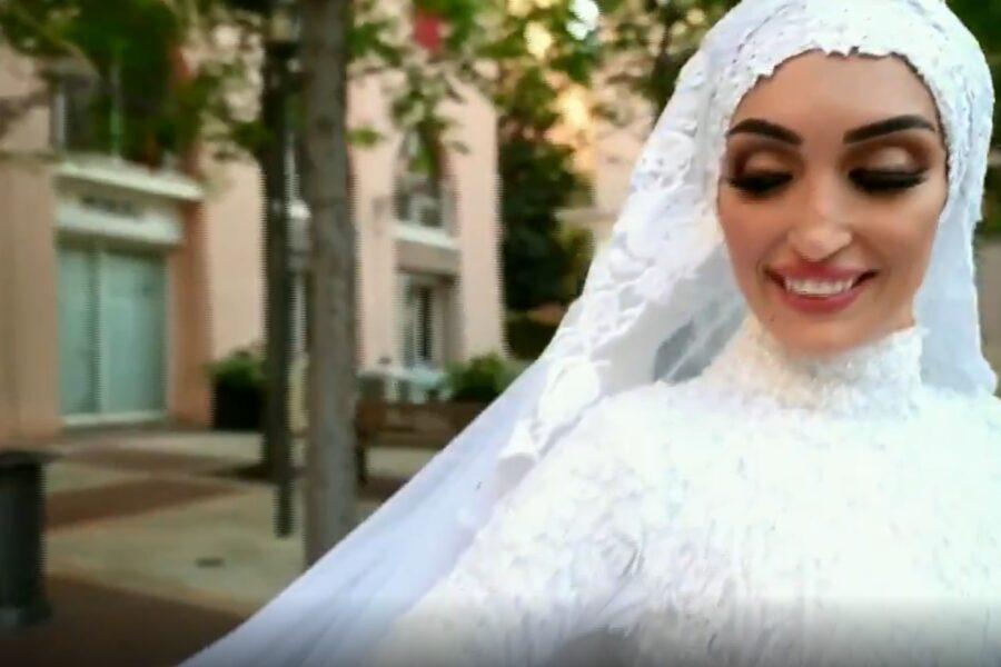 Chi è la sposa di Beirut protagonista del video durante l'esplosione