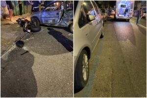 """Napoli, moto si schianta contro auto durante inversione: """"Botto tremendo"""""""