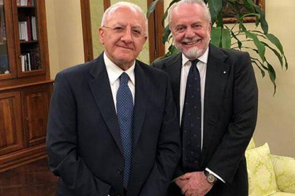 "De Laurentiis, tweet a Caldoro: ""Hai già perso, non farti doppiare da De Luca"""