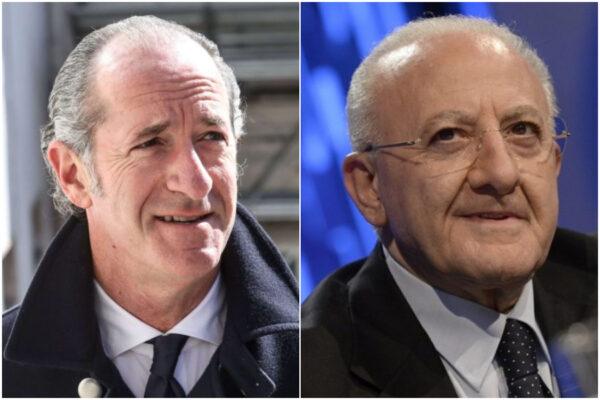 De Luca e Zaia in trionfo, il prossimo scontro sarà per Palazzo Chigi?