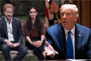 """Harry e Meghan contro Trump, lui replica: """"Non sono fan di Markle, buona fortuna al principe"""""""
