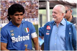 """Maradona bacchetta De Laurentiis: """"30 anni fa vincevamo la Supercoppa ma il Napoli non ricorda"""""""