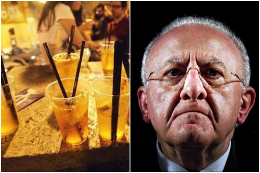 La Campania zona arancione, l'ordinanza di De Luca: niente asporto alcolici dalle 11 di mattina
