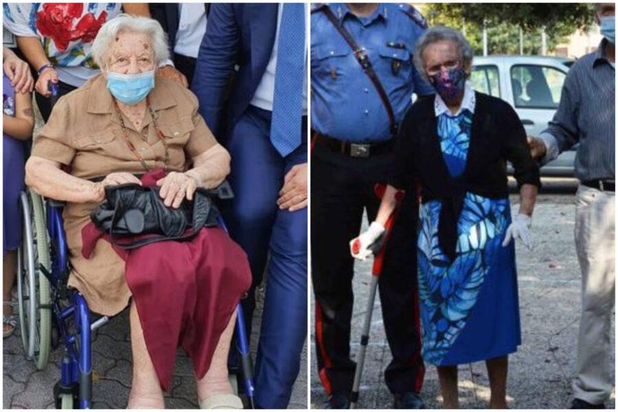 """Luisa e Margherita, le due nonnine ultracentenarie più forti del Covid-19: """"Non pensavamo di votare ancora"""""""