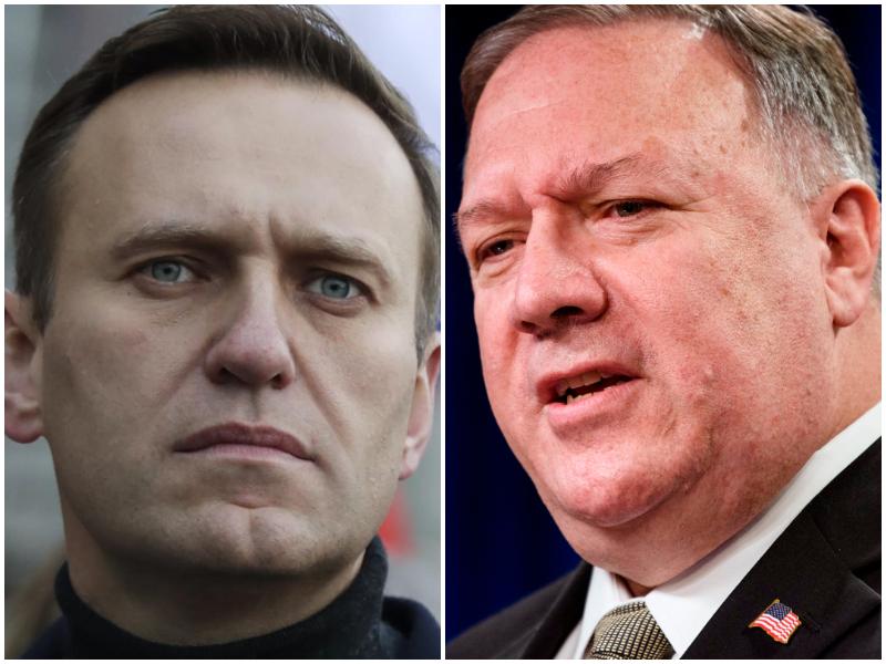 """Navalny, Pompeo accusa la Russia: """"Avvelenamento ordinato da alti funzionari"""""""