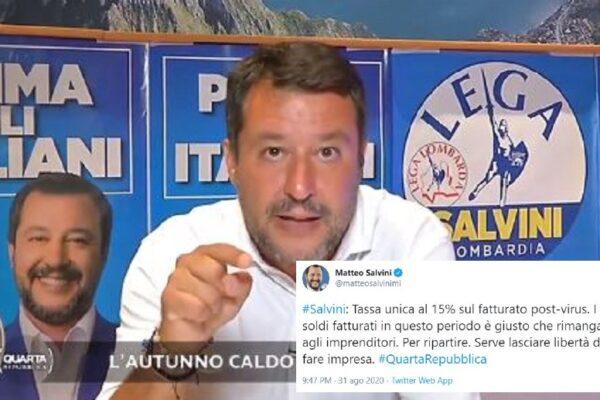 Salvini non sa la differenza tra utile e fatturato, la gaffe in tv sulle tasse agli imprenditori
