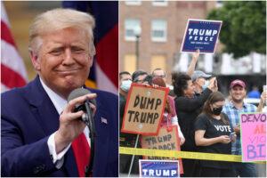 La guerriglia urbana dà ossigeno a Trump
