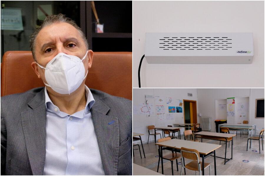 Sanificatori brevettati dalla Nasa contro il Covid, nella scuola napoletana si potrà stare senza mascherina