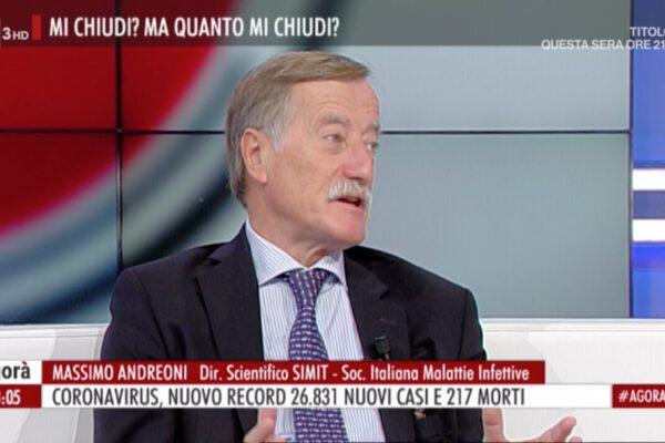 """""""Chiudere o pagheremo con vite umane"""": l'atto di accusa di Andreoni, direttore della Società italiana di malattie infettive"""