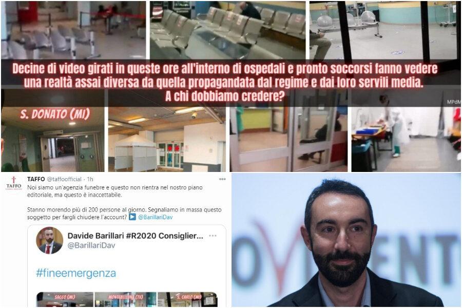 """L'ex pasdaran grillino Barillari parla di """"ospedali vuoti"""" per il Coronavirus e viene 'blastato' da Taffo"""