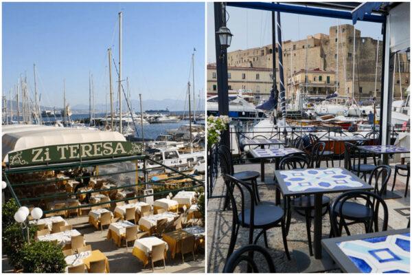 Cade in mare e denuncia abusivismo: blitz Borgo Marinari, verande sequestrate a due ristoranti