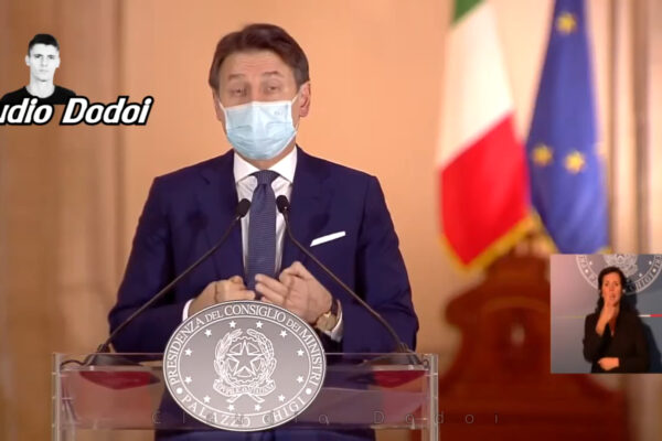 Giuseppe Conte diventa master of cerimonies nel nuovo video di Claudio Dodoi