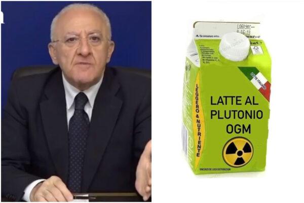 """Figlia cresciuta con latte al plutonio, De Luca: """"Solo una battuta, per le mamme faccio cose concrete"""""""