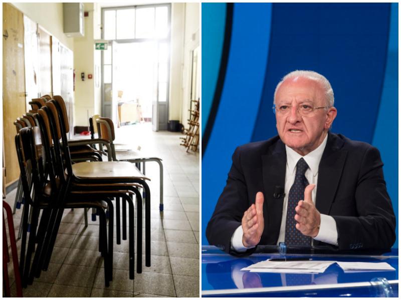 """Scuola in Campania, lunedì i risultati dello screening: """"Ma i comuni posso decidere di non aprirle"""""""