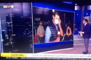 Scontri di Napoli, aggredito giornalista di SkyTg24