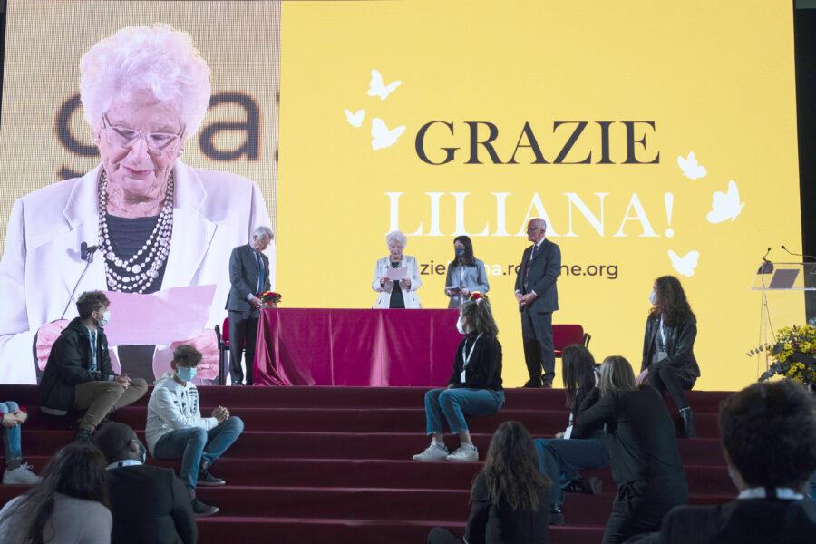 L'ultima testimonianza pubblica di Liliana Segre: costruire una comune coscienza pubblica