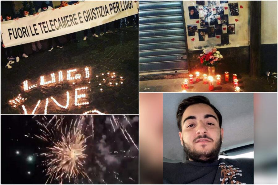 """L'ultimo saluto a Luigi Caiafa, fiaccolata e fuochi d'artificio: """"Fuori le telecamere, vogliamo giustizia"""""""
