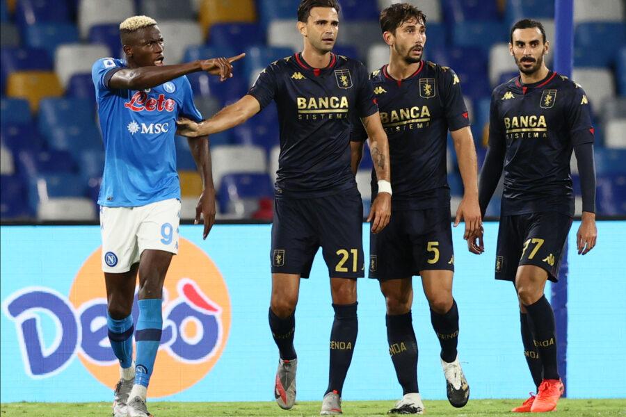 Serie A, rinviata Genoa-Torino per il focolaio tra i rossoblu: stabilita la regola sui contagi