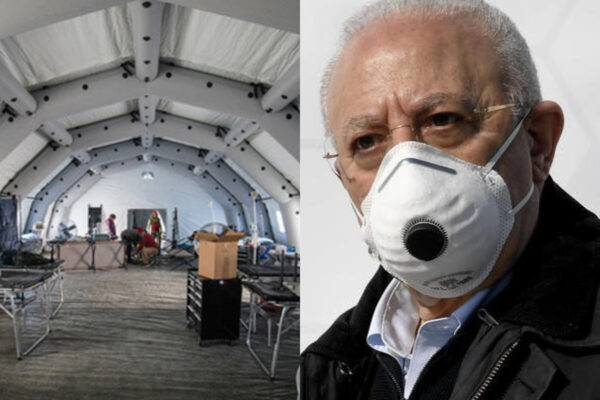 """Coronavirus, la Campania si prepara al peggio: ospedali da campo. Sos alla Chiesa: """"Aiutateci"""""""