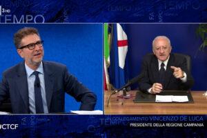 """De Luca chiede di Ranucci a Fazio: """"Il suo collega poi è stato licenziato?"""""""