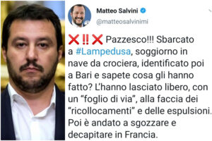 I tweet dei Salvini sui decapitati superano ogni confine di decenza