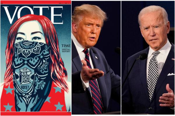 Il Time per la prima volta senza il nome nella copertina: dopo 97 anni la scritta 'Vote' per le presidenziali USA