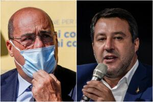 """Salvini incontra Zingaretti, dopo i veti lo """"spirito di collaborazione"""": """"Parlato di lavoro"""""""