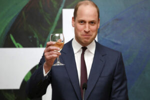 Britain's Prince William speaks during a reception held by Irish Tanaiste, Simon Coveney, in Dublin, Ireland, Wednesday, March 4, 2020, as part of their three-day visit to Ireland. (Phil Noble/Pool Photo via AP)