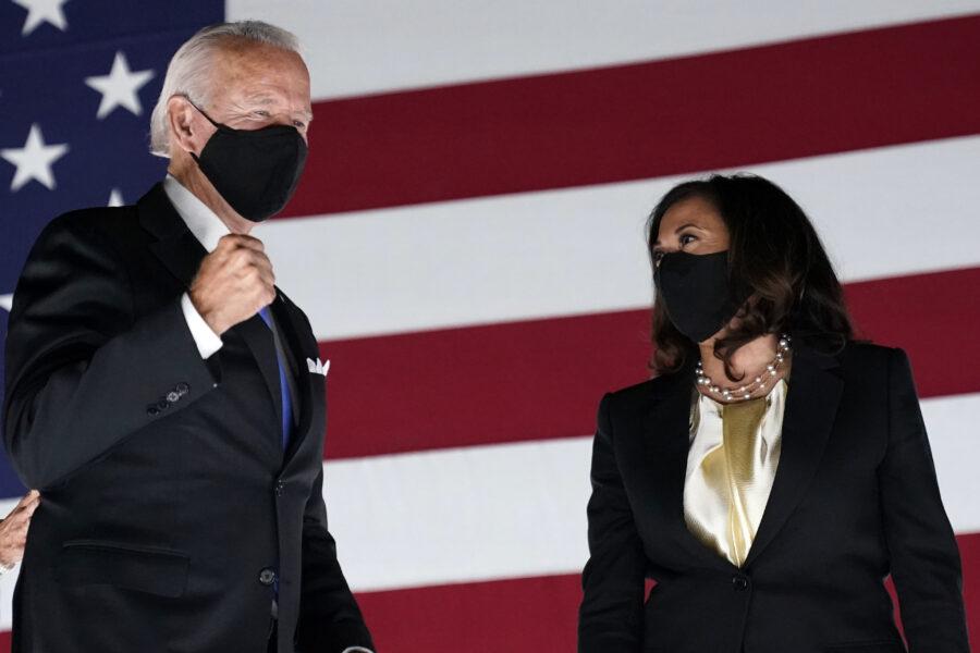 """Joe Biden e Kamala Harris alla Nazione: """"Avete scelto un nuovo futuro, un'America che unisce"""""""
