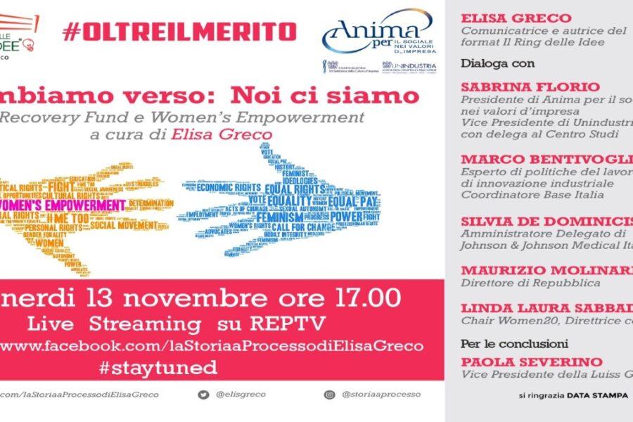 """Le donne e la ripresa economica, culturale e sociale: venerdì ecco """"Cambiamo verso"""", il nuovo focus di Elisa Greco"""