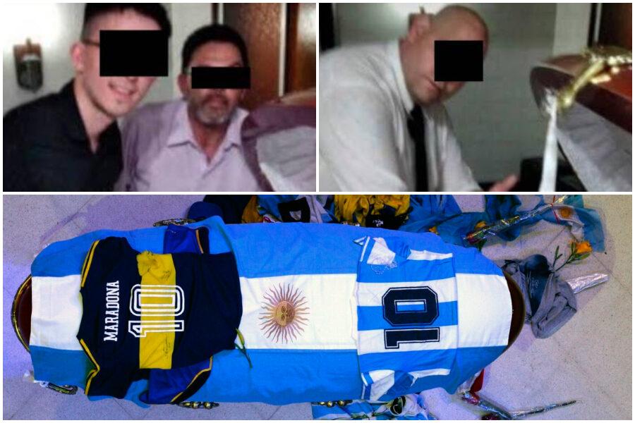 Becchini si scattano foto con Maradona nella bara, è bufera in Argentina