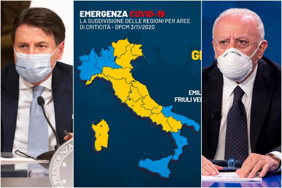 Perché la Campania è zona gialla e non arancione? Le scelte che hanno portato a questa decisione