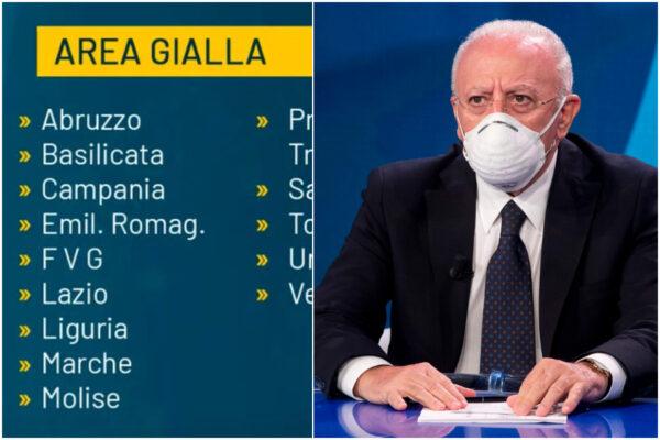 Cosa vuol dire 'Campania gialla': regione a rischio moderato
