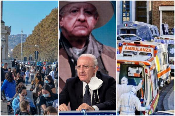 Campania Zona Rossa, martedì si decide: la Regione è caso nazionale