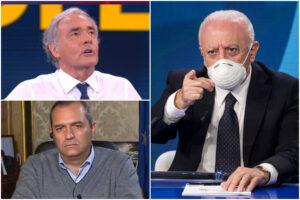 """De Luca contro 'Non è l'Arena' di Giletti: """"Dati falsi e sciacallaggio mediatico, vi denuncio"""""""