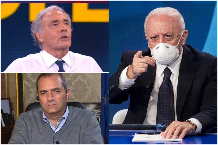 """De Luca contro i 'dati falsi' di Giletti e 'Non è l'Arena': """"Danno numeri al Lotto, cambiate canale"""""""