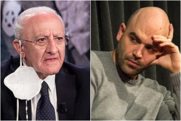 Roberto Saviano 'sfotte' Vincenzo De Luca ma rimane 'sfottuto'