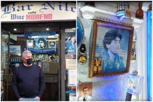 """Maradona nel cuore di Napoli, il bar del capello piange il suo 'dios': """"Aperti solo per omaggiarlo"""""""